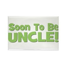 Soon To Be Uncle! Green Rectangle Magnet