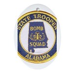 Alabama Bomb Squad Oval Ornament
