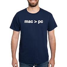 MAC > PC Navy Blue T-Shirt