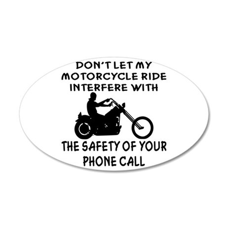 My Motorcycle Ride 20x12 Oval Wall Decal