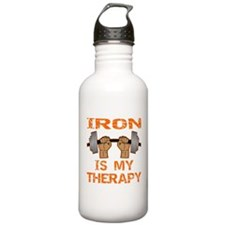 Iron Is My Therapy Water Bottle