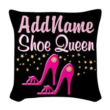 PINK SHOES Woven Throw Pillow