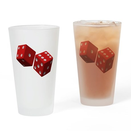 Lucky Dice Drinking Glass