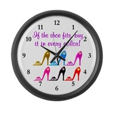 DAZZLING SHOES Large Wall Clock