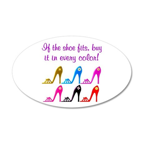 DAZZLING SHOES 20x12 Oval Wall Decal