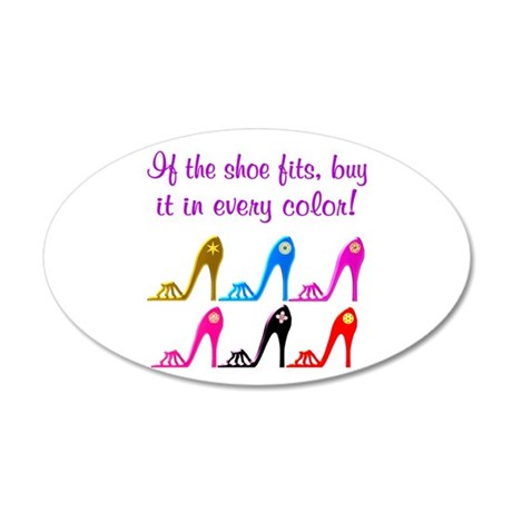 DAZZLING SHOES 35x21 Oval Wall Decal