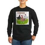 Cornish Trio Long Sleeve Dark T-Shirt