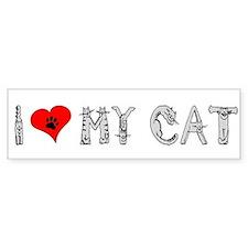 I love my cat / heart Bumper Bumper Sticker