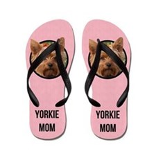 Yorkshire Terrier Mom Flip Flops