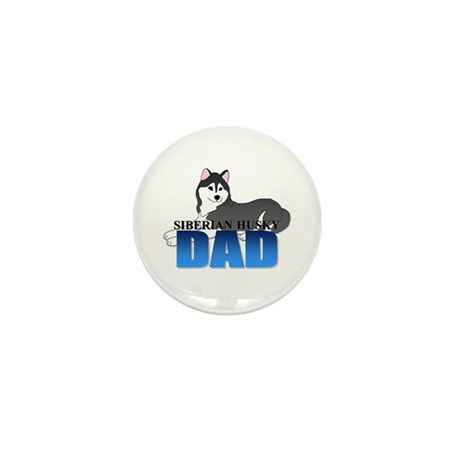 Siberian Husky Dad Mini Button