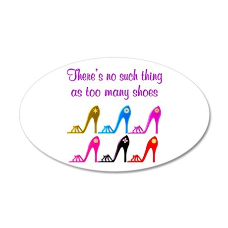 SHOE ADDICT 20x12 Oval Wall Decal