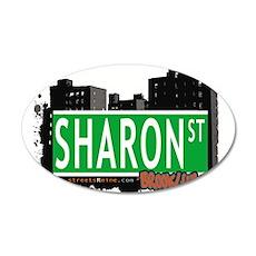 SHARON ST, BROOKLYN, NYC 20x12 Oval Wall Decal