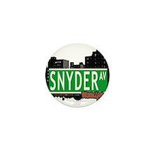 SNYDER AV, BROOKLYN, NYC Mini Button (100 pack)