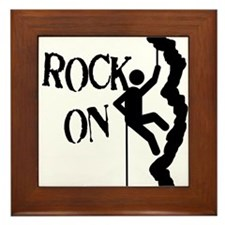 Rock On Framed Tile