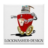 Lockwasher Design Tile Coaster