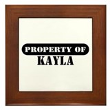 Property of Kayla Framed Tile