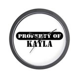 Property of Kayla Wall Clock