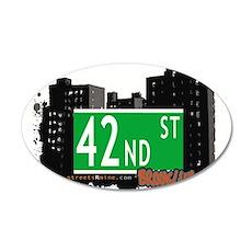 42nd street, BROOKLYN, NYC 35x21 Oval Wall Decal