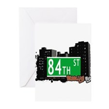 84th street, BROOKLYN, NYC Greeting Cards (Pk of 1