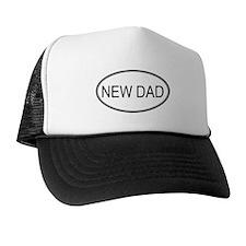 Oval: New Dad Trucker Hat