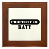 Property of Katy Framed Tile
