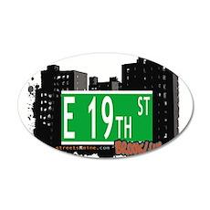 E 19th street, BROOKLYN, NYC 20x12 Oval Wall Decal