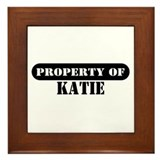Property of Katie Framed Tile