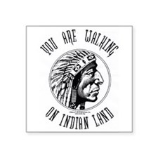 Walking on Indian Land Logo Rectangle Sticker