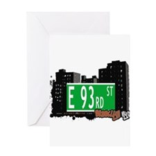 E 93rd street, BROOKLYN, NYC Greeting Card