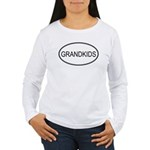 Oval: Grandkids Women's Long Sleeve T-Shirt