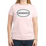 Oval: Grandkids Women's Pink T-Shirt