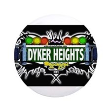 "Dyker Heights (Black) 3.5"" Button"
