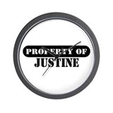 Property of Justine Wall Clock