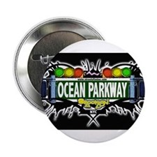"Ocean Parkway Brooklyn NYC (Black) 2.25"" Button (1"
