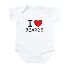 I love beards Infant Bodysuit