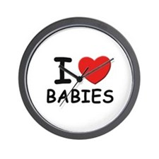 I love babies Wall Clock