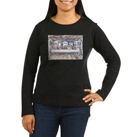 Last Supper Women's Long Sleeve Dark T-Shirt