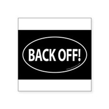 BACK OFF Auto Sticker -Black (Oval) Sticker