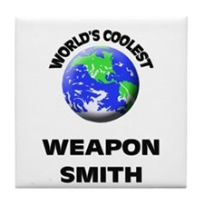 World's Coolest Weapon Smith Tile Coaster