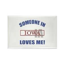 Someone In Iowa Loves Me Rectangle Magnet