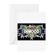 Inwood Manhattan NYC (Black) Greeting Card