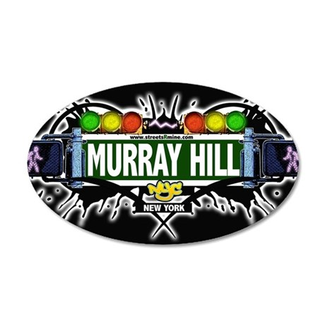 Murray Hill Manhattan NYC (Black) 35x21 Oval Wall