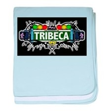 Tribeca Manhattan NYC (Black) baby blanket