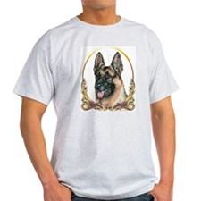 German Shepherd Holiday/Christmas Ash Grey T-Shirt