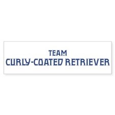 Team Curly-Coated Retriever Bumper Bumper Sticker