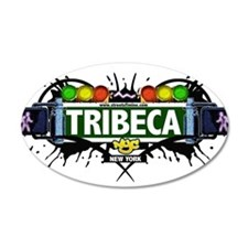 Tribeca Manhattan NYC (White) Wall Decal