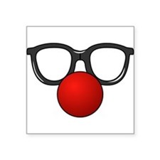 Funny Glasses with Clown Nose Sticker