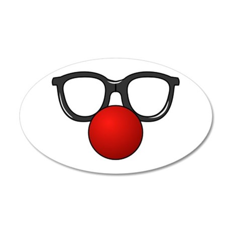 Funny Glasses with Clown Nose Wall Decal