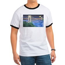 George Washington Bridge Full Moon T-Shirt