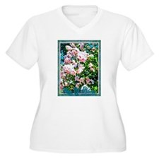 Rose of Sharon Hibiscus Plus Size T-Shirt